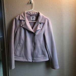 Old Navy lilac suede moto jacket